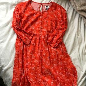 XS orange dandelion dress